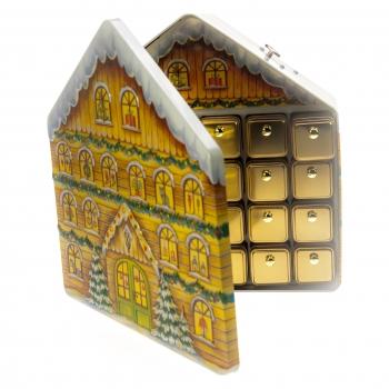 b2c shop gawol adventskalender weihnachtshaus mit gepr gtem design 24 minid schen zum. Black Bedroom Furniture Sets. Home Design Ideas